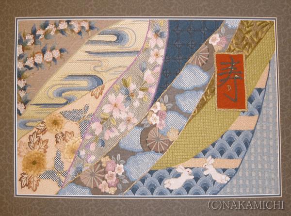 和風の刺繍